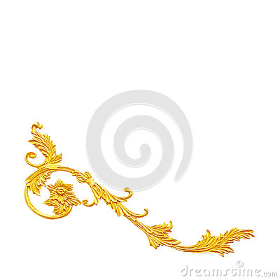 Free Ornament Elements, Vintage Gold Floral Designs Royalty Free Stock Images - 97151599