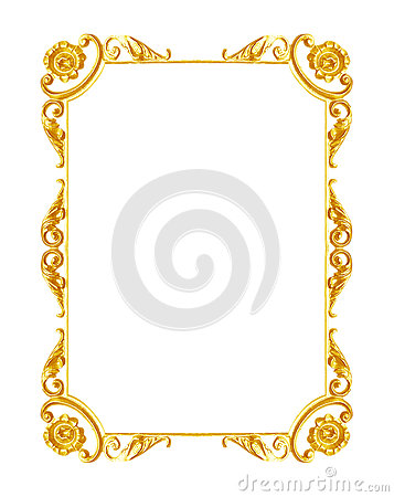 Free Ornament Elements, Vintage Gold Frame Floral Designs Stock Photography - 53858922