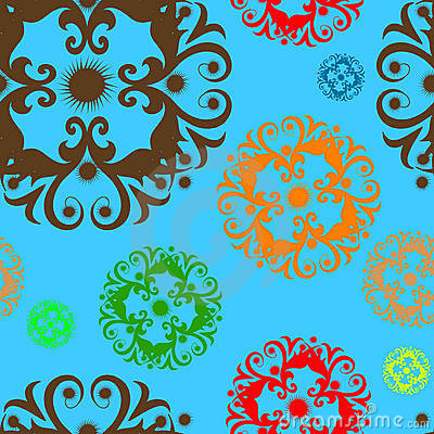 Ornament floral wallpaper