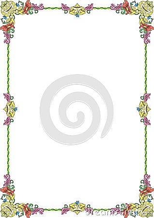 Ornament frame1 pastel