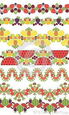 Ornament. fruit berries and vegetable