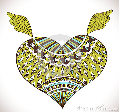 Ornament heart shape for your design