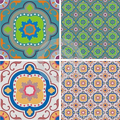 Free Ornament Retro Tiles Stock Image - 2325561