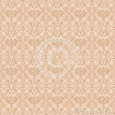 Ornament with roses in pale beige palette