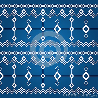 Ornament of white rhombuses (seamless pattern)
