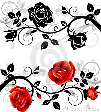 Free Ornament With Roses Stock Photo - 21372420
