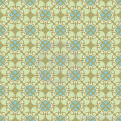Ornamental background , green - blue