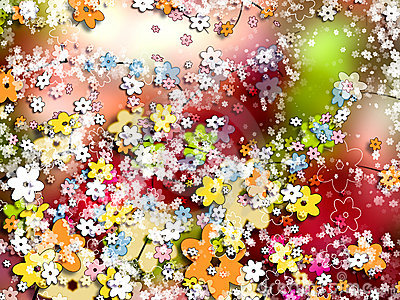 Ornamental background and wallpaper of flowers