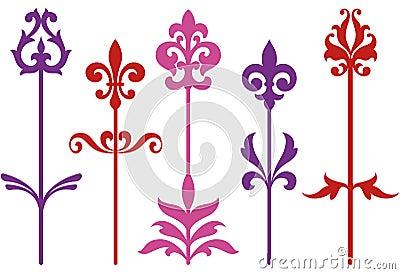 Ornamental baroque flowers
