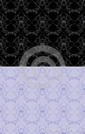 Ornamental black and lilac backgrounds