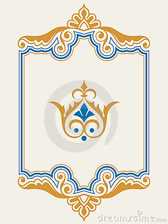 Ornamental border frame design element set