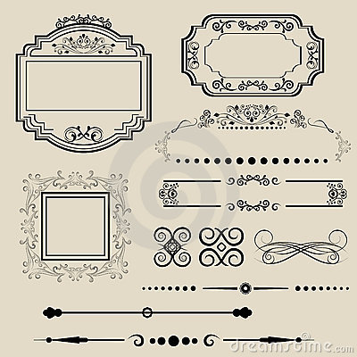 Ornamental borders and frames