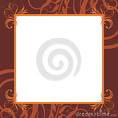 Ornamental brown frame