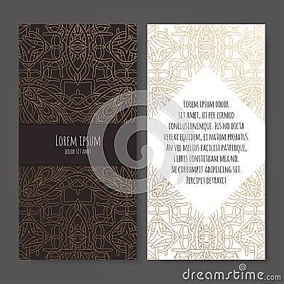 Ornamental business cards Vector Illustration