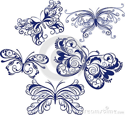 Ornamental butterflies