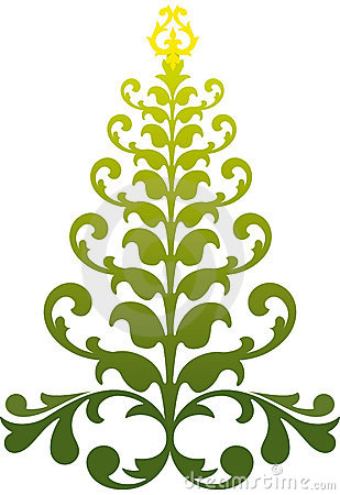 Ornamental christmas tree