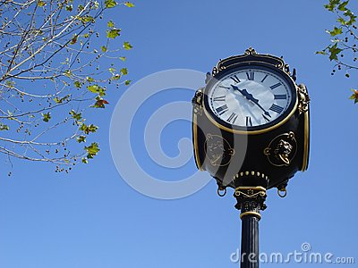 Ornamental city clock