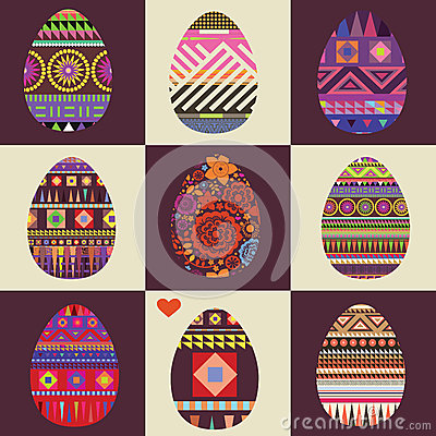 Ornamental color easter eggs