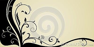 Ornamental corner card design