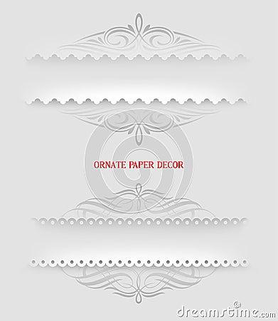 Ornamental decorative paper frames