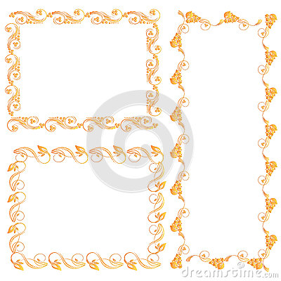 Ornamental design elements Vector Illustration