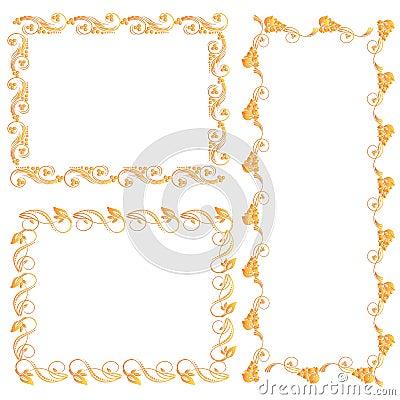 Ornamental design elements Vector Illustration