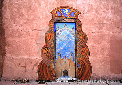 An Ornamental Door In New Mexico Royalty Free Stock Photos - Image: 1797448