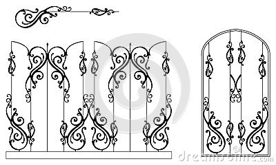 Ornamental-fence-set