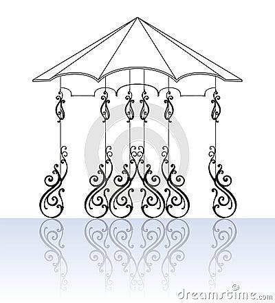 Ornamental-fence-set