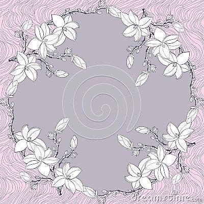 Ornamental Floral Bandanna