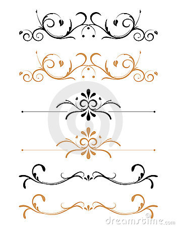 Free Ornamental Floral Page Decorations Stock Photo - 4429120