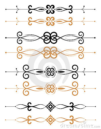 Ornamental floral page decorations