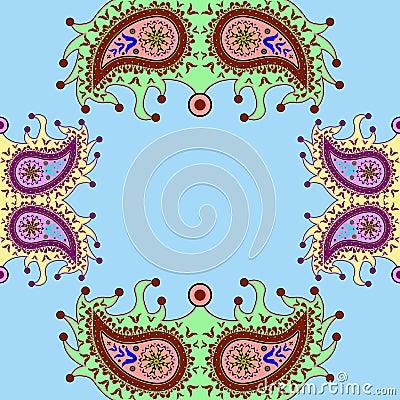 Ornamental floral paisley pattern