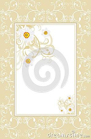 Ornamental frame with daffodils