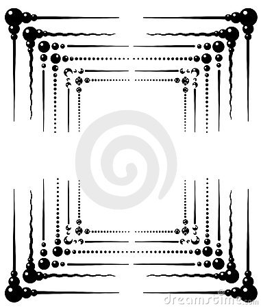 a collection of six 6 ornamental frame designs in vector format black and white editable to apply your own color