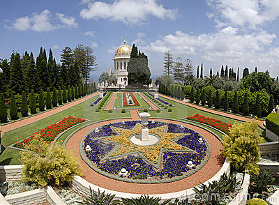 Ornamental garden of the Baha i Temple