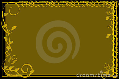 Ornamental Gold and Black Background.