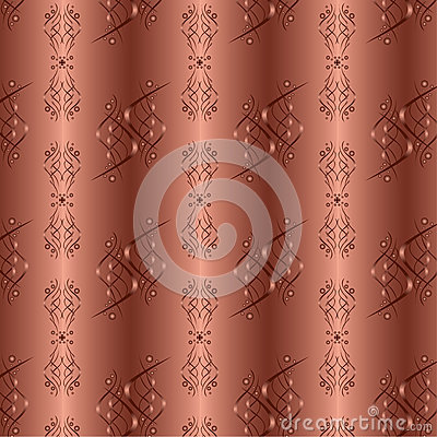 Ornamental golden background with seamless pattern