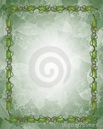 Ornamental Green and Gold Border