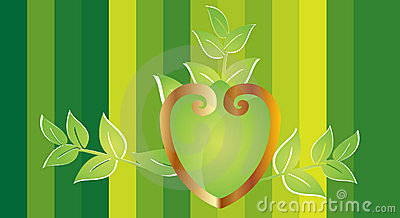 Ornamental heart with leafs