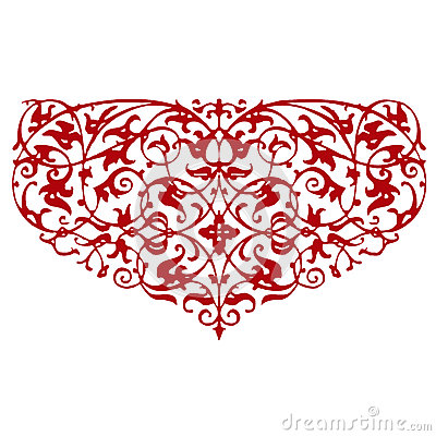 Ornamental heart shape