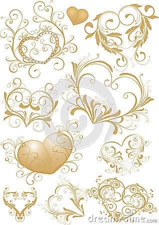Ornamental heart-shapes