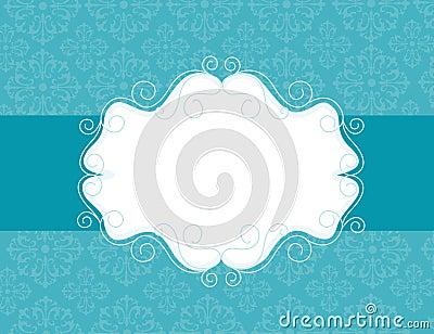 Ornamental invitation background