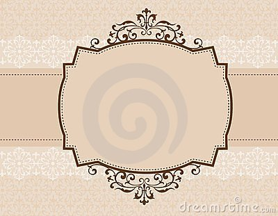 Ornamental invitation background