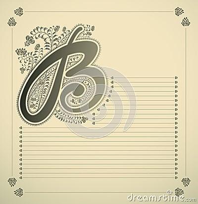 Ornamental letter - B