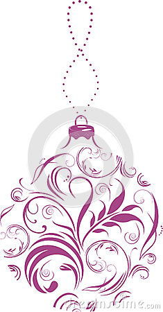 Ornamental lilac Christmas ball