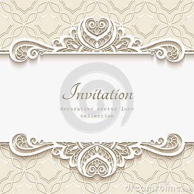 Free Ornamental Paper Frame With Lace Border Stock Photo - 86039030