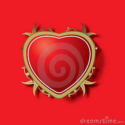 Ornamental red heart