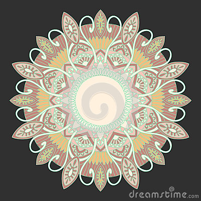 Ornamental round lace in ethnic style