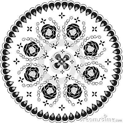 Ornamental round lace pattern,